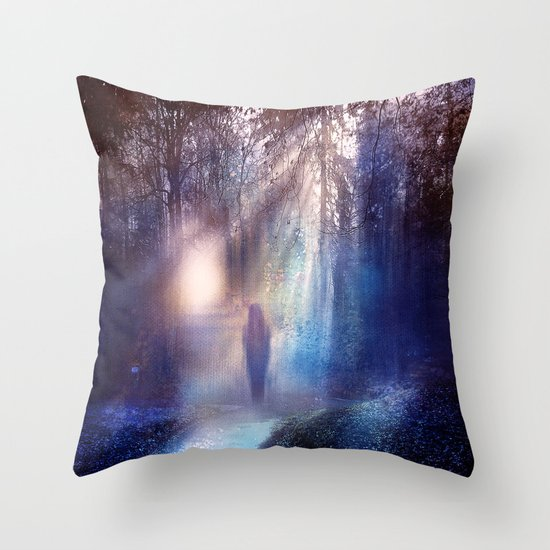 Path lights Throw Pillow