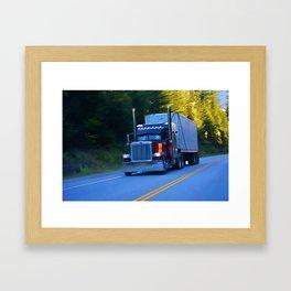 The Revelstoke Run Cargo Truck Framed Art Print