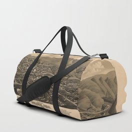 Bird's Eye View of Golden, Colorado (1882) Duffle Bag