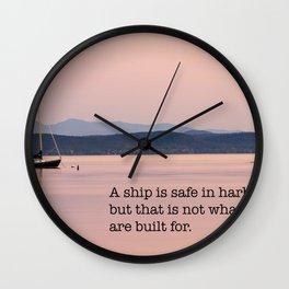 Set To Sail Wall Clock