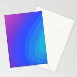 Mint, Blue, & Magenta Gradient Ellipses Stationery Cards