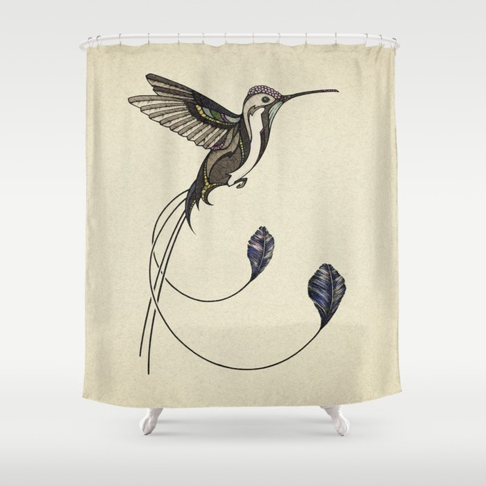 Merveilleux Hummingbird Shower Curtain