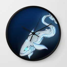 Great White Ghost Wall Clock