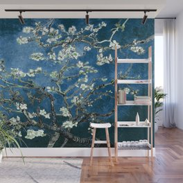 Van Gogh Almond Blossoms : Ocean Blue Wall Mural