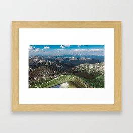 Summit the 14er Framed Art Print