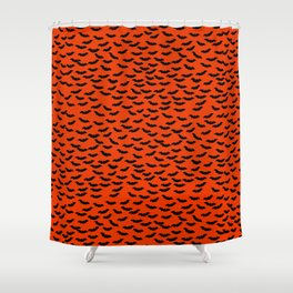 Bats in the Belfry-Orange Shower Curtain