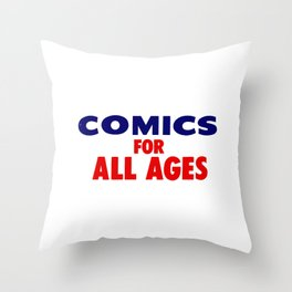Comics for All Ages Throw Pillow