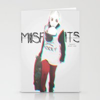 misfits Stationery Cards featuring Misfits by SAH.