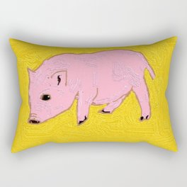 Piglet on the gold backgruond Rectangular Pillow