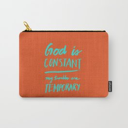 Constant - Teal & Orange Carry-All Pouch