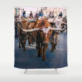 Denver National Western Stock Show Kick-of Parade 2018 Shower Curtain