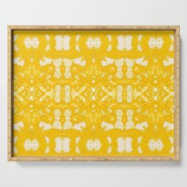 Yellow Oxford Shibori Serving Tray