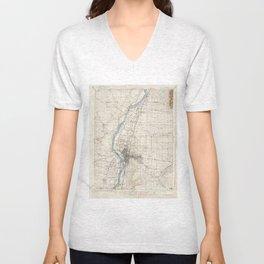 Vintage Albuquerque New Mexico Topographic Map Unisex V-Neck