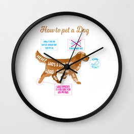 dog caress funny evil fur paw gift Wall Clock