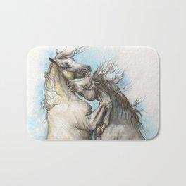 Fighting horses Bath Mat