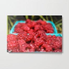 Raspberry Jewels Metal Print