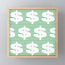 White dollar symbol Framed Mini Art Print
