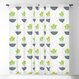 Potted Kalanchoe Plant Mom Pattern Blackout Curtain