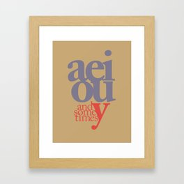 Vowels 2 Framed Art Print