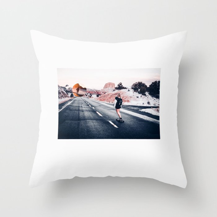 chase your dreams 2 Throw Pillow