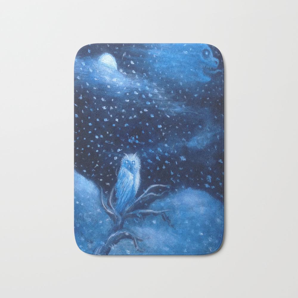 Spirits Of The Moonlit Blizzard Bath Mat by Shredrik BMT8902586
