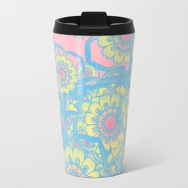 Pastel colored daisies Travel Mug