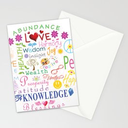 Inspirational Words Stationery Cards