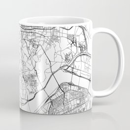 Seoul White Map Coffee Mug