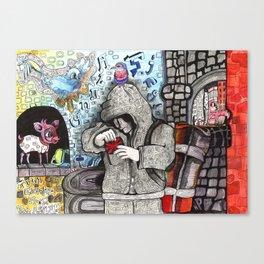 Just Escaped  Canvas Print