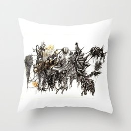 Vile Cosmos (of which we are part) by Brian Benson Throw Pillow