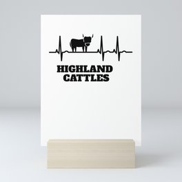 Gift For Highland Cattle Fans Enthusiasts Mini Art Print