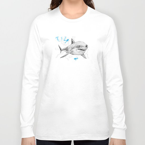 'Sharks & Silhouettes' Long Sleeve T-shirt