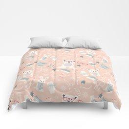 Christmas polar animals pattern 003 Comforters