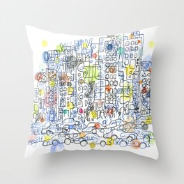 NYC colours Throw Pillow