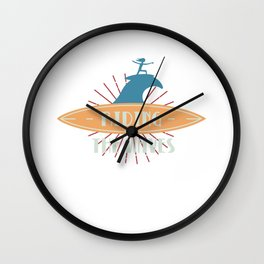 Riding The Waves Wave Riding Wave Rider Bodyboard Surfing Wall Clock