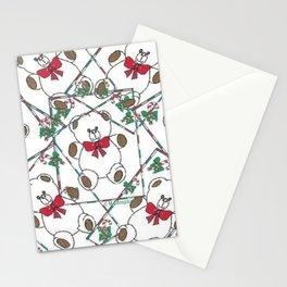 """ Christmas Teddy Pattern "" Stationery Cards"