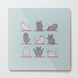 British Shorthair Cat  Yoga Metal Print