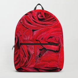 Bed of red roses - Photography pattern of red rose Backpack