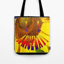 sunflower smiley h.a.n.d Tote Bag