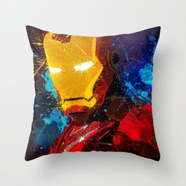 Iron man I Throw Pillow