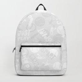 Tennis. Grey Pattern. Backpack
