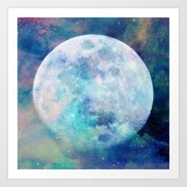Moon + Stars Art Print