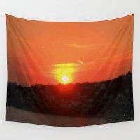 sunshine Wall Tapestries featuring Sunshine by Elena Indolfi