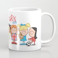 spice girls Mugs featuring Spice Girls Kids by The Drawbridge