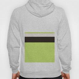 Modern Lime Green Color Block Gray Stripes White Hoody