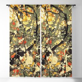 Jackson Pollock, digitally vectorised and filtered, fine art decor and clothing Blackout Curtain