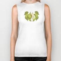 pear Biker Tanks featuring Pear by Marlene Pixley