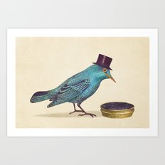 Gentlebirds Prefer Caviar  Art Print