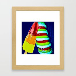 Retro Ice Lolly Blast Framed Art Print