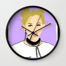 Knock Knock! Jungyeon Purple Wall Clock